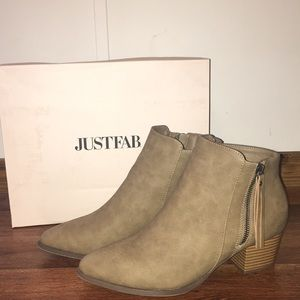 Just Fab Taupe Booties Size 8.5